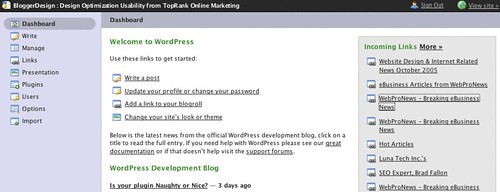Wordpress Admin Optimized