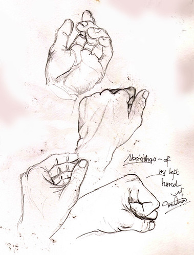 1990 Sketch - Left Hand (set)