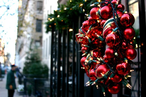 wreath and man waiting
