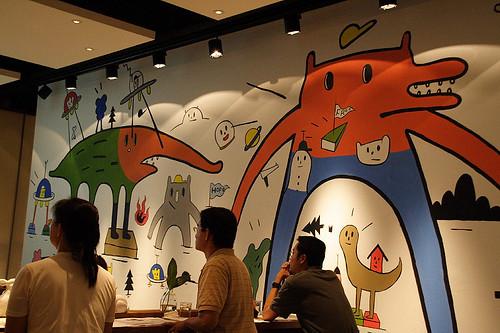 餐廳主題壁畫 (by Audiofan)