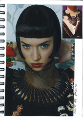Inspiration book - Zipper collar from CommeDesGargons photo by OutsaPop Trashion DIY fashion