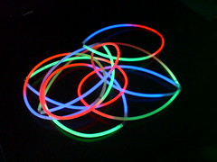 Glowsticks at dawn!