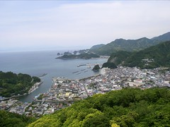 松崎牛原山往堂島方向眺望(在世界中心呼喊愛的名場景)