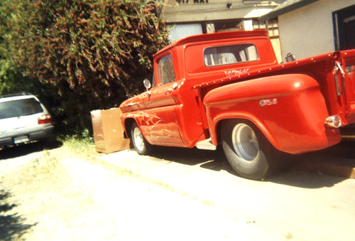 red red truck