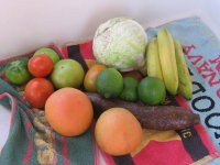 $10 of fruits and vegetables purchased at Potters Cay<br />