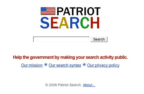 Patriot Search:  All your searches delivered straight to George Bush