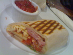 Breakfast wrap at Artigiano