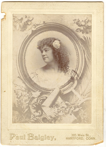 "Cabinet Card On Oversize Mount, Gladys Hayden (Or Some Such) ""Tamborine Girl"""