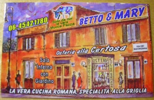 Betto & Mary : il bigliettino
