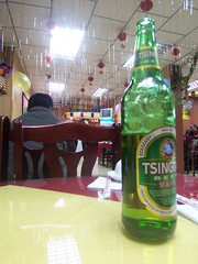 Chinese beer and christmas decoration
