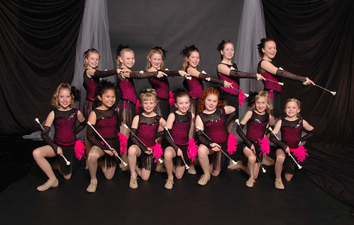 Emma's baton group photo