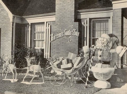 here comes santa claus lawn 1954