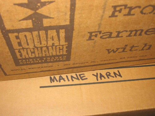 Box of Maine yarn