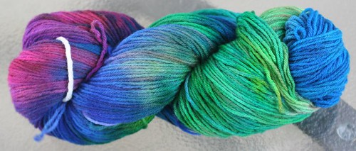 Hand-dyed wool 1