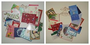 Christmas Card Wreath