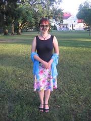 Picovoli and pink skirt