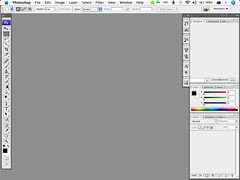 Photoshop CS3's default interface