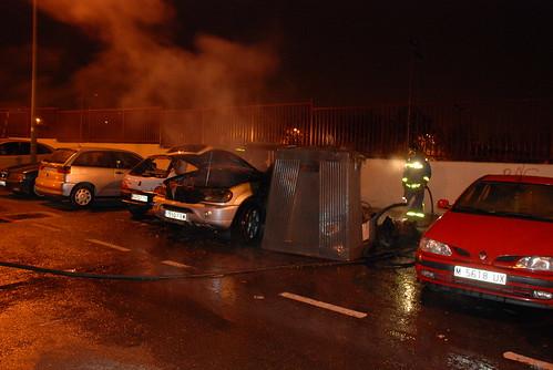 coche ardiendo en madrid