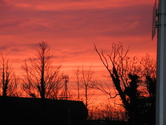 Blood red sky over Portman Road