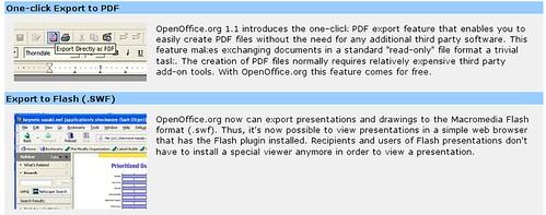 openoffice还能够输出swf文件