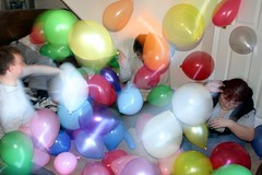 Swirling balloons