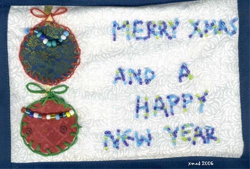 fabric greeting card