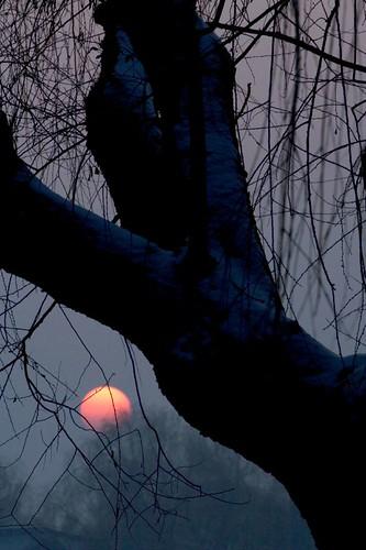 颐和园冬天的夕阳