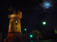 Halle/Saale North water tower @ Paracelsusstreet by night photo by sven.dressler