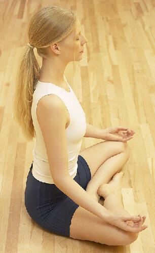 Student meditating