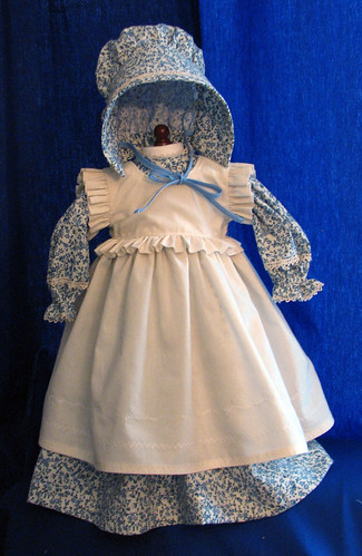 Doll Dress, Pinafore, and Bonnet