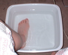 soaking my foot