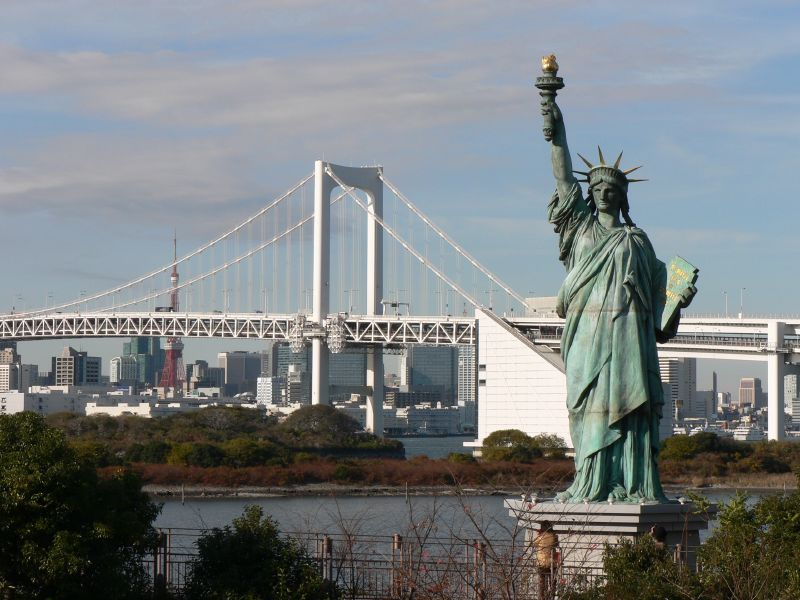 Statue of liberty in Tokyo