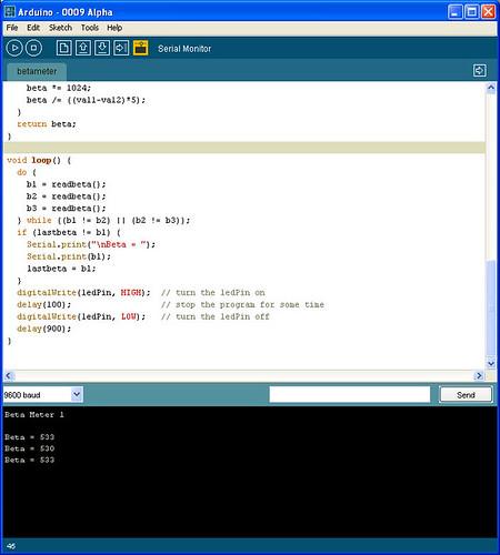 First sketch: Arduino beta tester « Adafruit Industries
