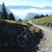 Steep path to Col de la Golèse