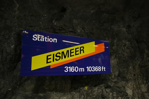 Station in the Tunnel up to Jungfraujoch