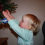 Helping decorate the tree<br/>10 Dec 2006