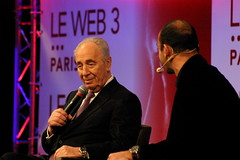 Shimon Peres and Lo�c LeMeur