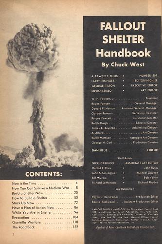 Fallout Shelter Handbook contents