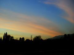 sunset at school