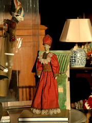 Puppet (Wayang Golek, West Java) observes the Cardinal. Very small cultural stand-off