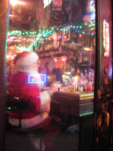 santa in the bar