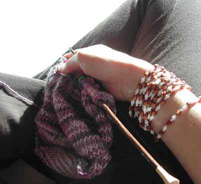 Knitting + Ghost Beads