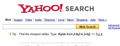 yahoo flight search