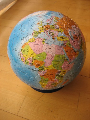 Earth globe jigsaw puzzle