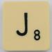Scrabble Letter J
