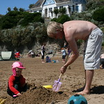 Dave builds me a sandcastle<br/>17 Jul 2007