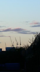 Broadgate tower cranes from canal