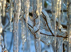 First icicles of late autumn