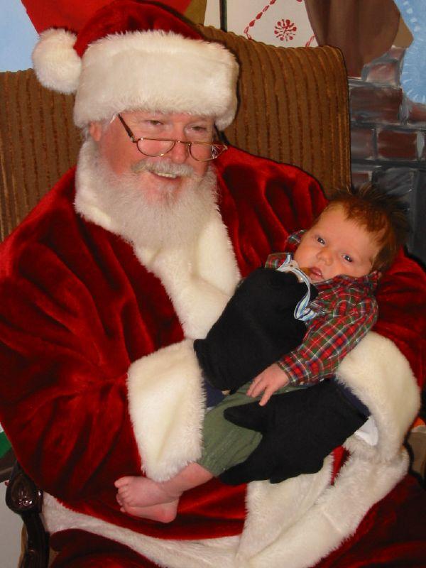 Charlie and Santa
