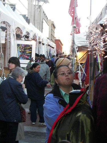 People at the Downtown Holiday Market